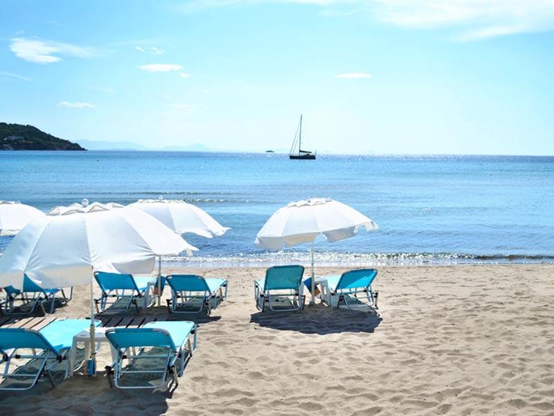 Stranden i agia marina på crete, Grækenland.