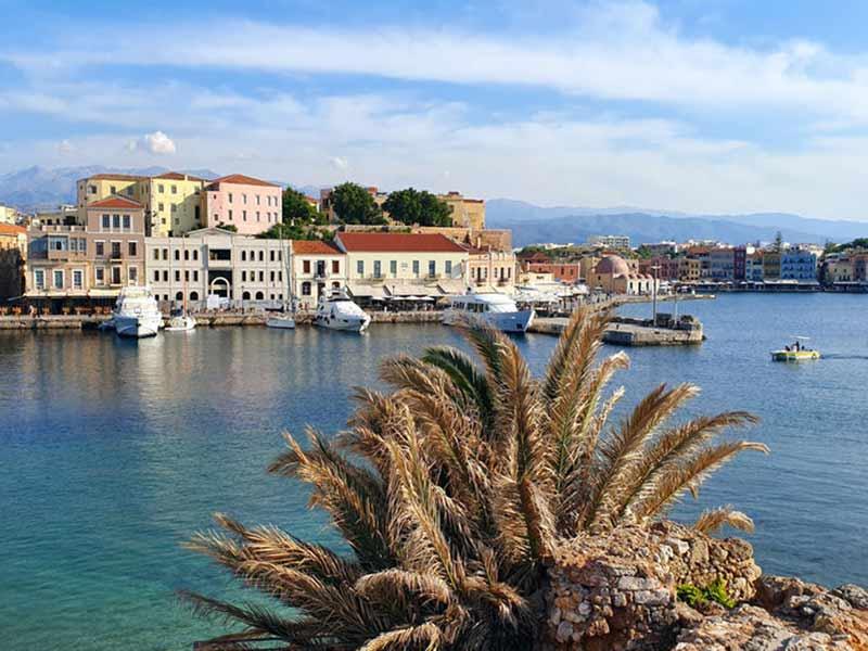Den Venetianske havn i Chania, Kreta, Grækenland.