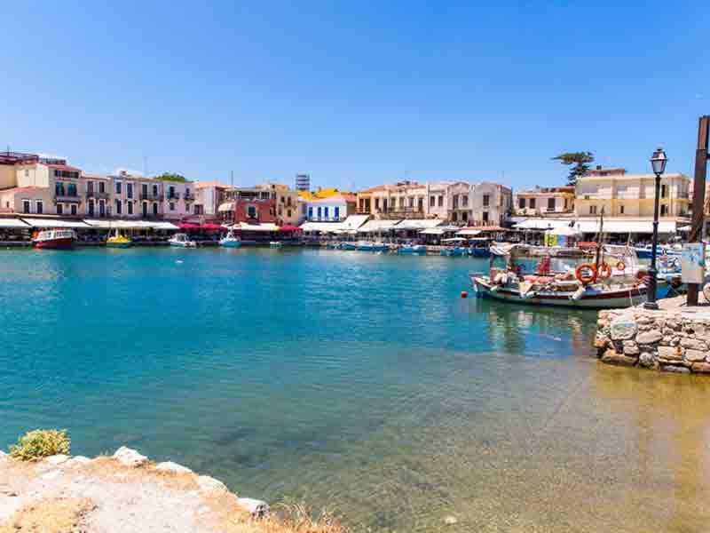 Billede af den gamle Venetianske havn i Rethymnon, Kreta, Grækenland