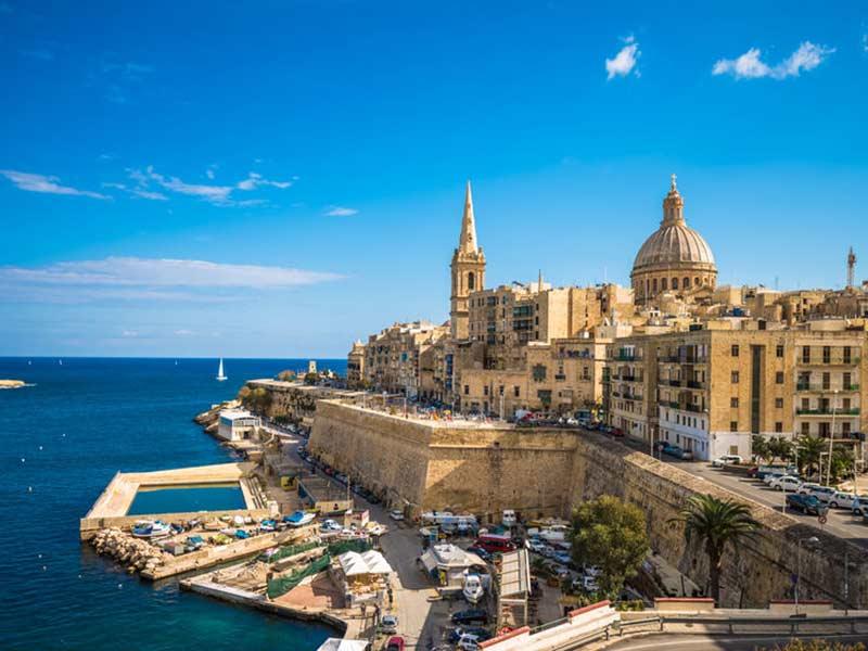 Udsigt over Valletta, hovedstaden på Malta