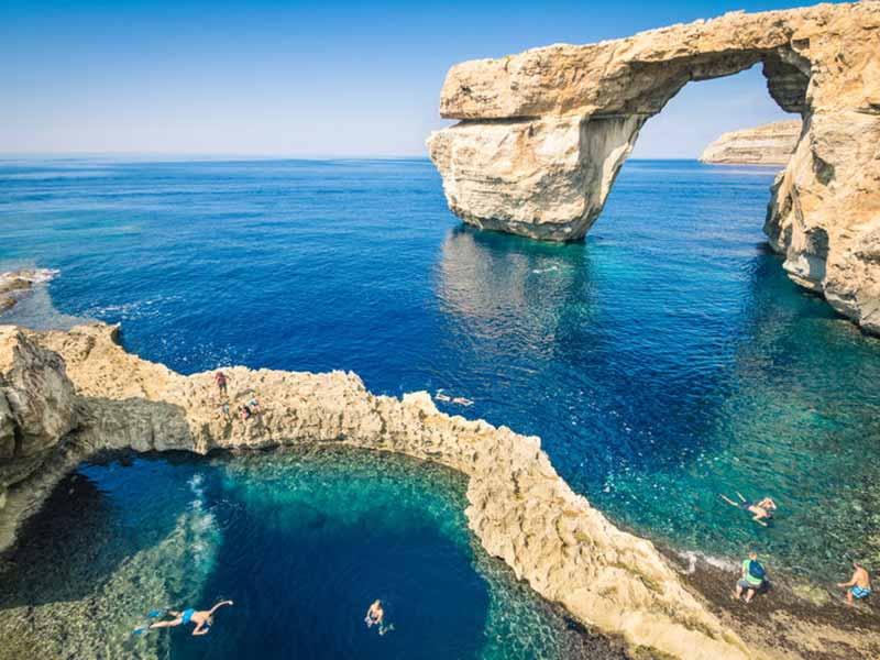 Det verdensberømte Azure-vindue på øen Gozo