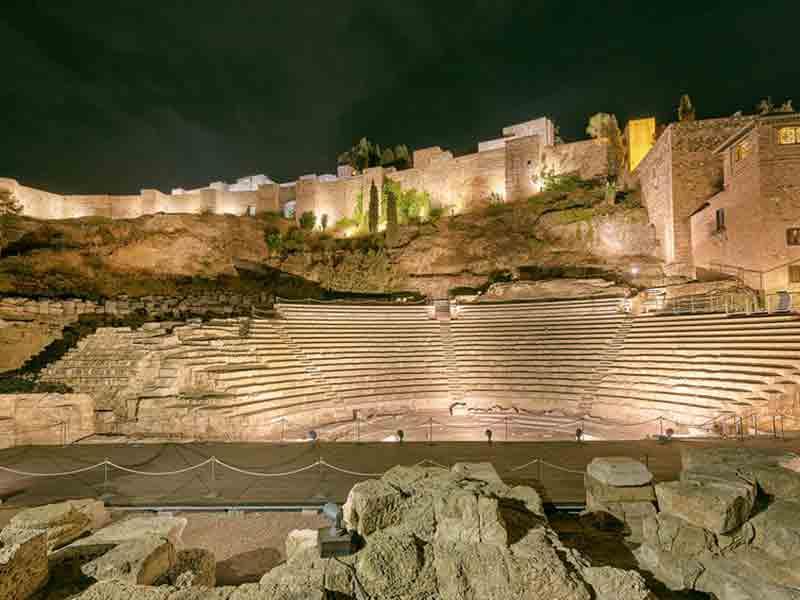 Teater i Malaga om natten